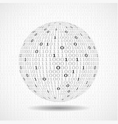 globe of binary code abstract technology ball vector image