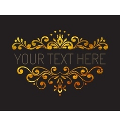Hand drawn gold textured decorative border vector image vector image