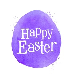 Happy easter logo design template egg or vector