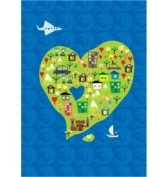 heart island vector image vector image