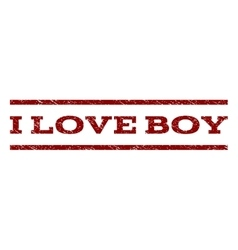 I Love Boy Watermark Stamp vector image
