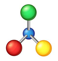 laboratory molecule icon cartoon style vector image vector image