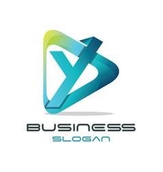 letter y media logo vector image vector image