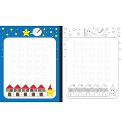 Little stars worksheet vector