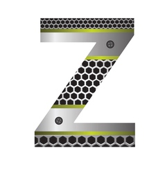 perforated metal letter Z vector image vector image