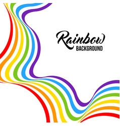Rainbow background lgbt colors vector