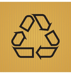 Recycling Symbol Outlined vector image vector image