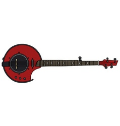 Red electric banjo vector