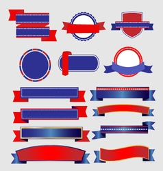 Ribbons and Banners American vector image vector image