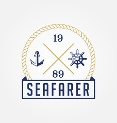 Sea Marine Logo vector image