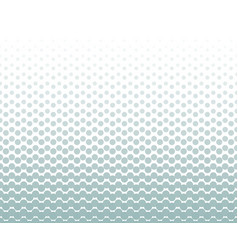 seamless halftone pattern with pastel green color vector image
