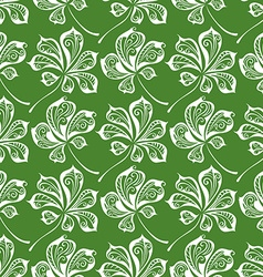 Seamless pattern of chestnut leaves vector