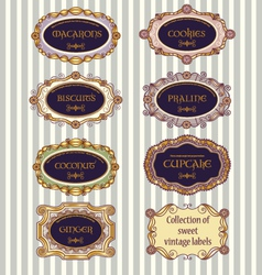 selection of vintage labels vector image
