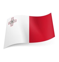 State flag of malta vector