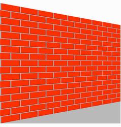 wall brick perspective view vector image vector image