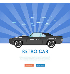 Website design with classic muscle car vector