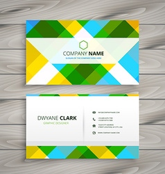 Abstract patten business card vector