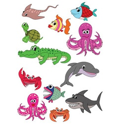Underwater animals vector