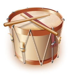 Traditional drum isolated on white background vector