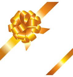 Golden ribbon and bow vector image