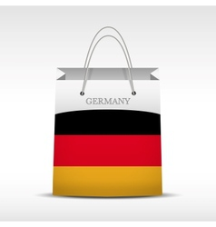 Shopping bag with germany flag vector