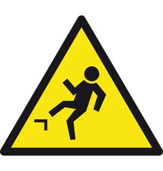Tripping - slipping hazzard safety sign vector
