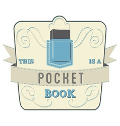 Pocket book vector