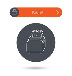 Toaster icon sandwich machine sign vector