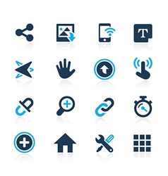 Web and mobile 10 azure series vector