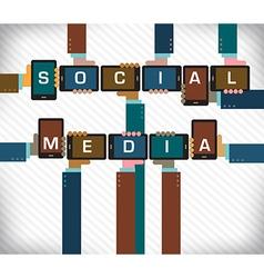 Social media smart phone vector