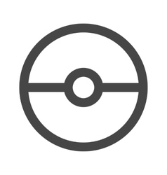 Pokeball icon in gray color vector image