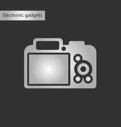 black and white style icon camera vector image