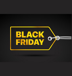 black friday golden label black friday sale tag vector image vector image