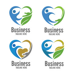 Care and charity logo vector
