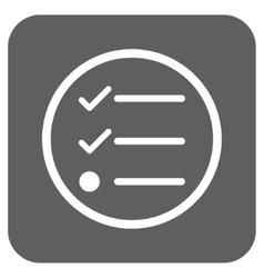 Checklist flat squared icon vector