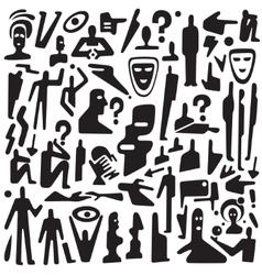 Communication thinking - icons set vector image