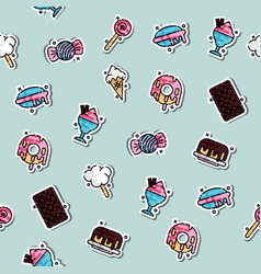 confectionary concept icons pattern vector image