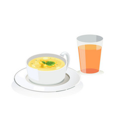 corn soup vector image vector image