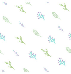 cute branches seamless pattern vector image