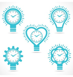 different shape clock vector image vector image