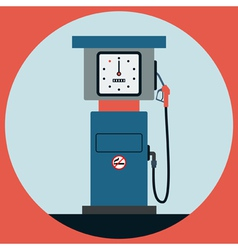 Fuel station pump vector image
