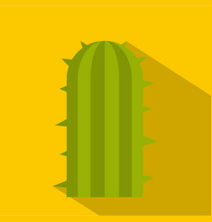 Green plant of desert icon flat style vector