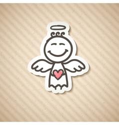 Hand drawn angel vector