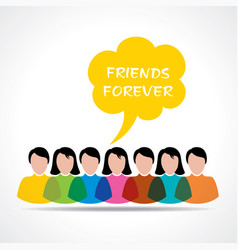 happy friendship day greeting stock vector image