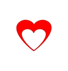 Heart red isolated vector