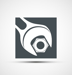 icon wrench to tighten the screws vector image vector image