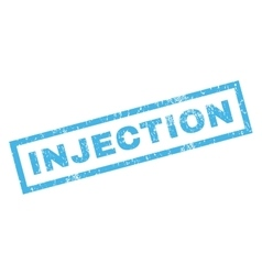 Injection Rubber Stamp vector image vector image