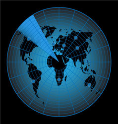 Radar map of the world vector image