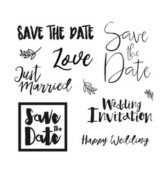 save the date wedding invitation labels vector image vector image