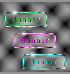 set of transparent banners vector image